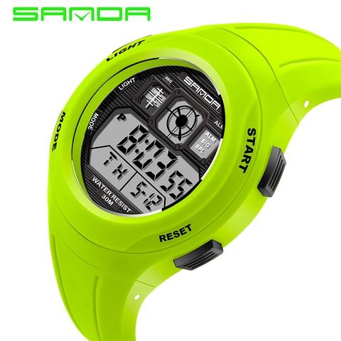 SANDA Brand Children Watches LED Digital Multifunctional Waterproof Wristwatches Outdoor Sports Watches for Kids Boy Girls #331 Islamabad