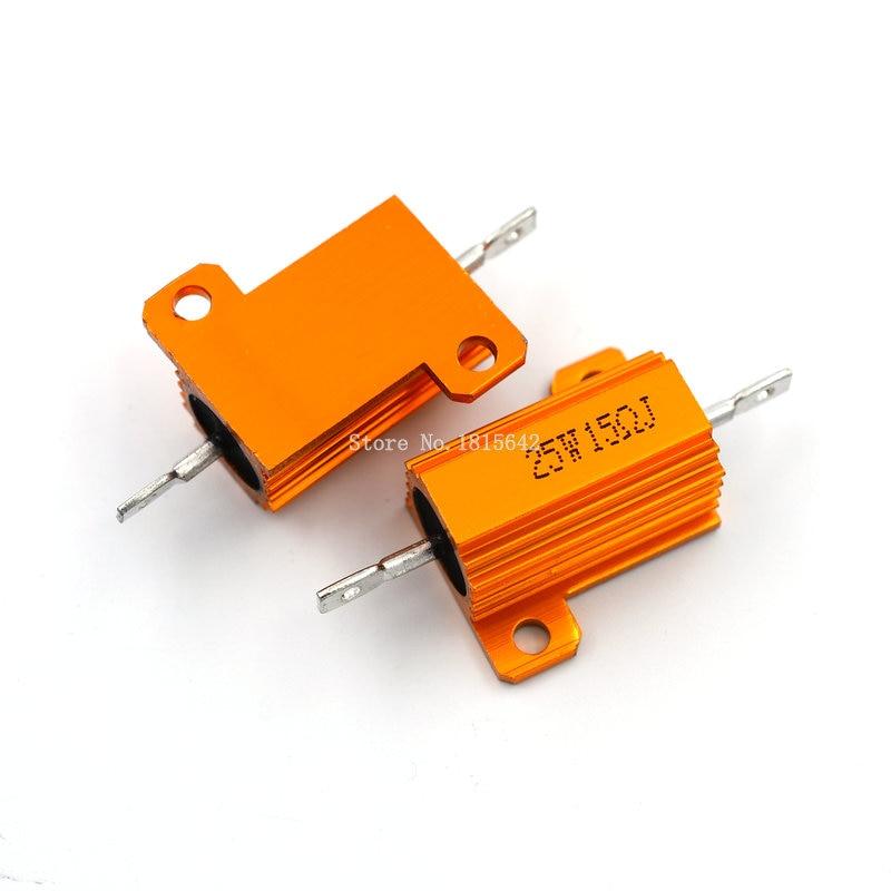 2 Pcs Fixed Wire Wound Ceramic Cement Resistor 15Ohm 25W 5/%
