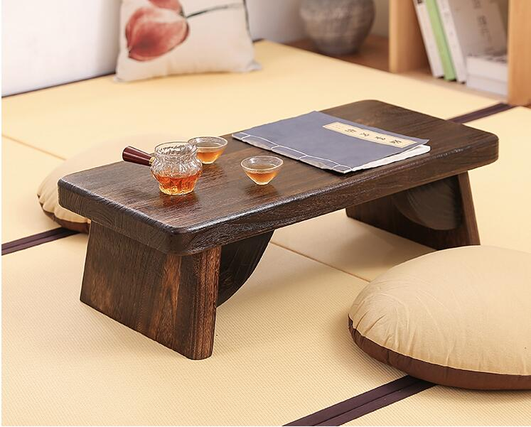 US $102.6 5% OFF|Asian Antique Furniture Japanese Floor Tea Table Rectangle  Living Room Wooden Center Laptop Coffee Tatami Low End Table Wood-in ...