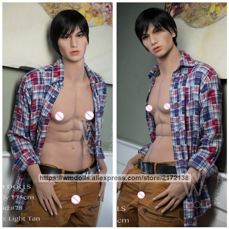 WMDOLL 175 centimetri Reale Del Silicone Pieno Bambole Del Sesso Gay di Sesso Maschile TPE Bambola Masturbatore Per Gli Uomini Realistico Grande Dildo Pene per delle donne