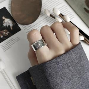Image 3 - LouLeur 925 sterling silber kaiserin avatar ringe silber mode vintage figur zeigefinger offene ringe für frauen edlen schmuck
