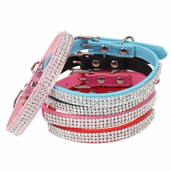 Dogs Cats Collars Rhinestone Kitten Animals Personalized Supplies For Pet Product Necklace Collar katten halsband collier chat 1