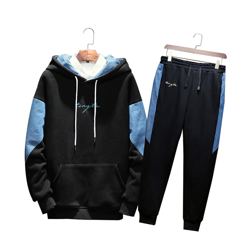 Combine Series 2018 Autumn Clothing New Pattern Japanese Even Hat Teenagers Motion Will Code Leisure Time Suit Male Tops Hoodies