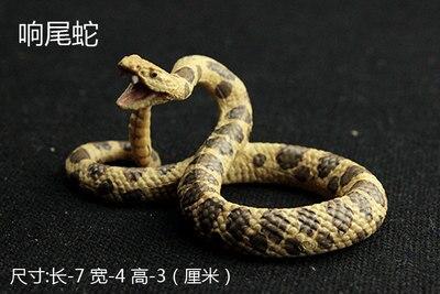 2777e67fd Animal selvagem modelo de cobra Python Cobra cascavel artes Criativas e  artesanato ornamentos retro escritório gabinete