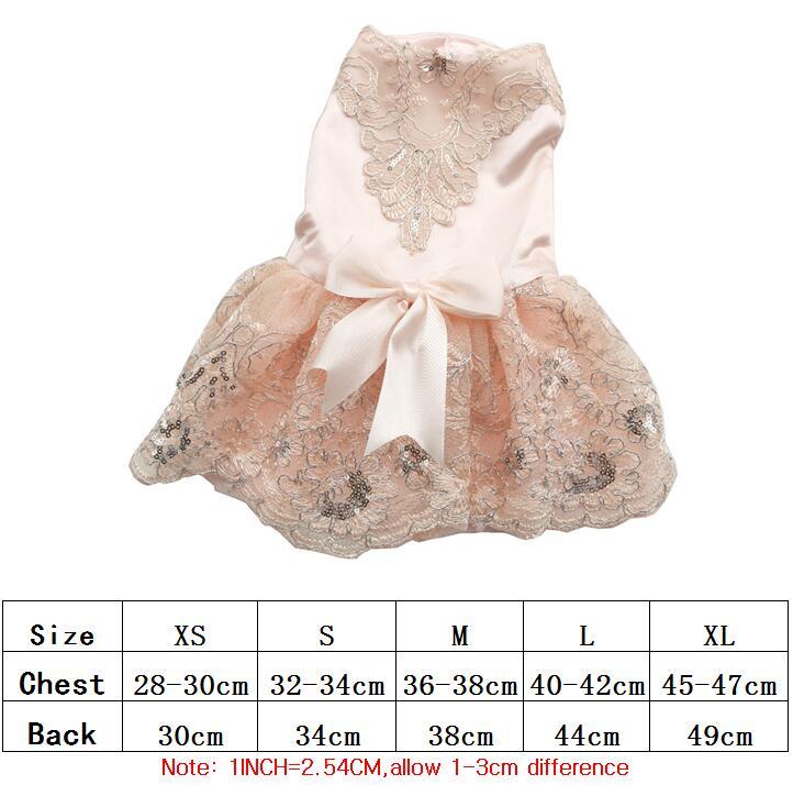 Prabangus princesė šunų vestuvių suknelė nėrinių naminių - Naminių gyvūnėlių produktai - Nuotrauka 3