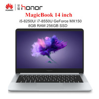 HUAWEI Honor MagicBook 14 inch Windows 10 Laptops i7 8550U / i5 8250U 8GB RAM 256GB SSD Notebook Quad Core 1.6GHz PC 1920x1080