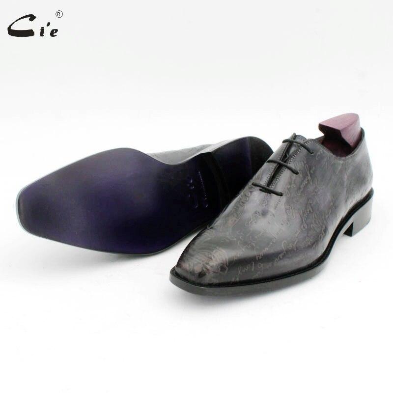 cie square toe carving design gray whole cut men dress shoe genuine full grain calf leather men leather work shoe oxford OX725