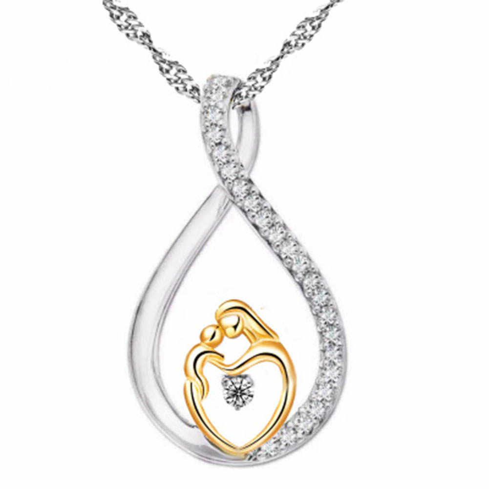 Moms Jewelry Birthday Gift For Mother Baby Heart Charm Pendant Mom Daughter Son Child Family Love