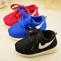 Crianças esporte casual shoes moda infantil meninos meninas shoes esporte running net shoes 3 cores baby shoes 21-30 para 1-6year