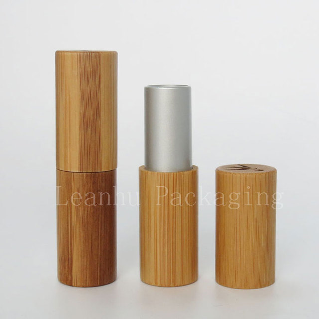 Favorite empty bamboo lipstick tube container DIY lip gloss cosmetic  QC61