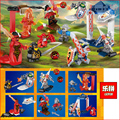 LEPIN 03029 12pcs/lot Super heroes Nexus Knights Future Knight Castle Warrior Building Block figures Bricks Kid Toy Gift