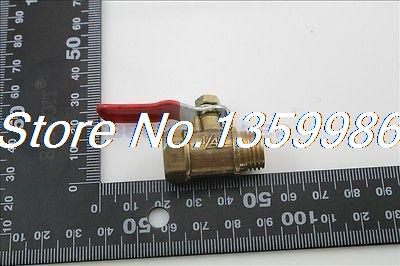 5pcs 1/4 BSP Female to Male Full Ports Connection Air Brass Pipe Ball Valve brass drain petcock shut off valve 1 4 bsp male to 1 4 bsp male threaded for fuel gas oil air