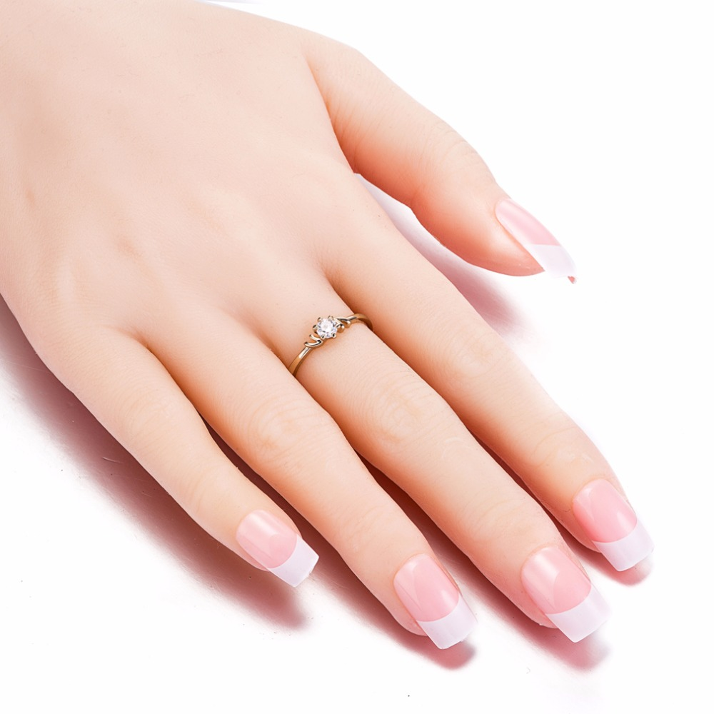 KUNIU Brand New Fashion Hot Woman\'s Fine Ring AAA Zircon Two Tone ...