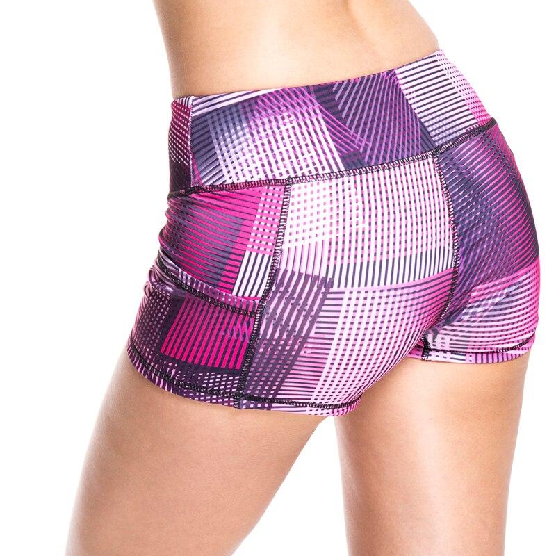 האופנה הקיץ לנשים מכנסיים קצרים מותניים גבוהים כושר אימון מכנסיים ספורט מכנסיים Feminino בגדים אלסטיים גבוהה כיס נשים