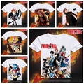 Fairy Tail Anime camiseta camisetas hombres Short Sleeve moda Natsu Lucy Erza camiseta del hombre Casual MenTops Anime cosplayTees ropa XD-008
