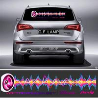90 X 25CM Car Sticker Music Rhythm LED Flash Light Lamp Voice activated Equalizer Flashing lightning