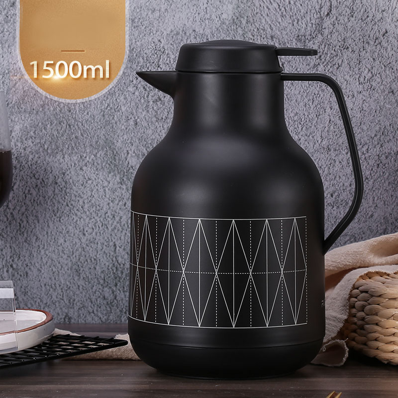 1500ml Glass Liner Thermal Vacuum Flask Creative Double Layer Coffee Tea Office Thermos Pot Kettle Large Hot Water Bottle China