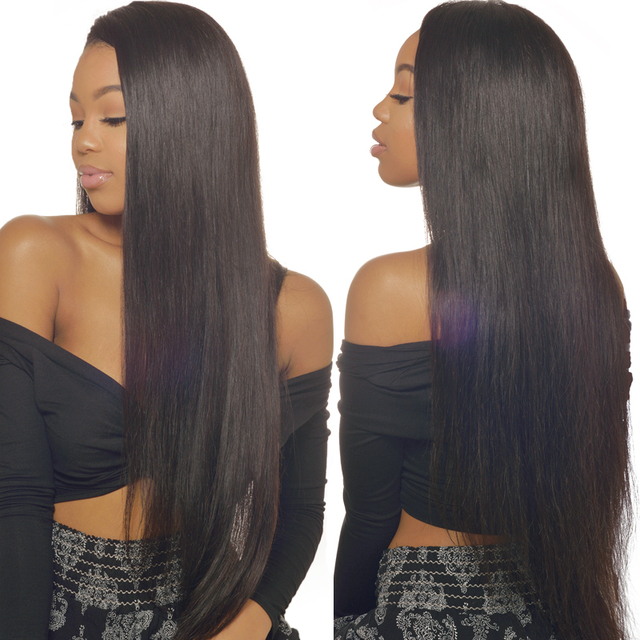 UNICE HAIR Straight Brazilian Hair Lace Frontal 13″x4″ Ear to Ear Free Part Lace Closure 1 Piece 100% Non-Remy Human Hair 10-20″