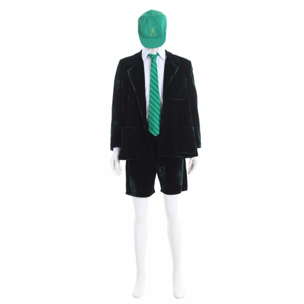 Cosplaydiy Custom Made Superstar AC/DC Bande Angus Jeune École Garçon Outfit Cosplay Costume Veste Manteau Court Pantalon Chemise L0516