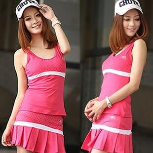 Woman sports set tennis ball dresses vest culottes pleated skirt tennis ball dress women's performance dress