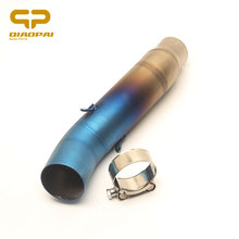Motorcycle Exhaust Pipe Adapters Middle Tube Link Pipe Muffle  Escape MOTO Connect Colourful Stainless for Honda CBR300 Exhaust