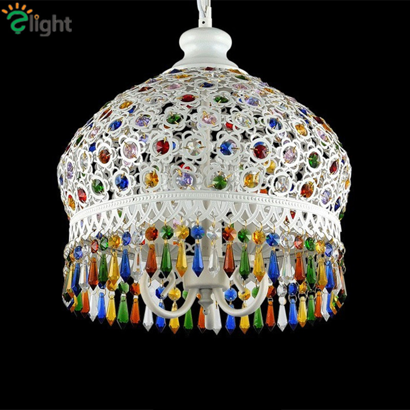 Фотография Bohemian Lustre Crystal Led Chandeliers Lighting Simple Metal Led Pendant Chandelier Lighting Led Hangig Light Luminaire Fixture