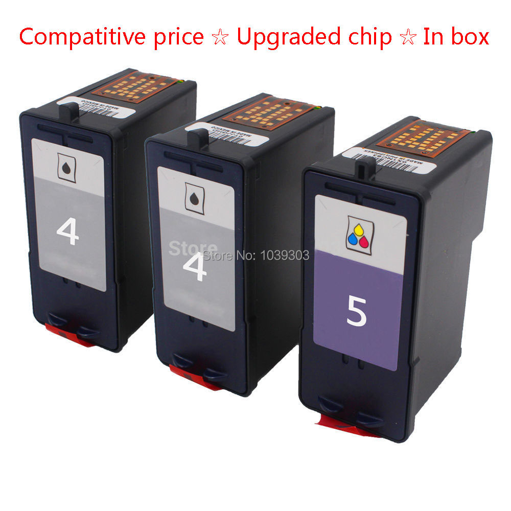 ФОТО 3PK Compatible For Lexmark 4 5 Black & Color Remanufactured Ink Cartridges Fit X2690 Z2490
