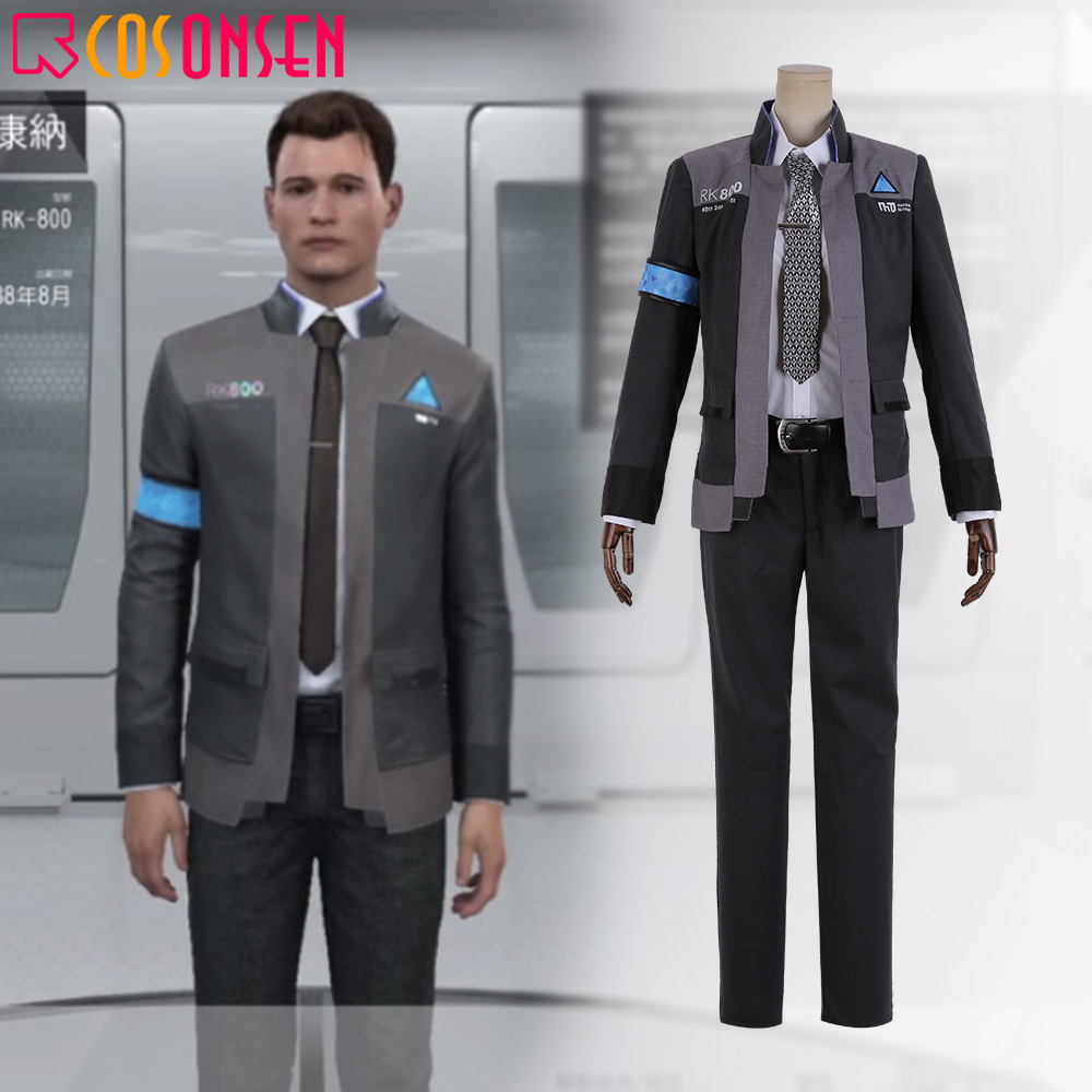 Detroit Become Human Connor Rk800 Agent Suit Uniform Cosplay Costume Cosplayonsen Customize Made Movie Tv Costumes Aliexpress