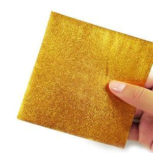 Image 5 - 200 шт. 8*8 см золотая алюминиевая фольга Конфета шоколадное печенье оберточная Оловянная бумага вечерние DIY Металлические тиснения подарочная упаковка крафт бумага
