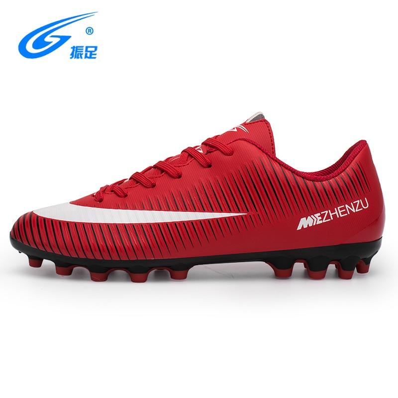 Zhenzu marca profissional sapatos de futebol das mulheres dos homens ao ar livre ag futebol chuteiras atlético formadores tênis adultos botas