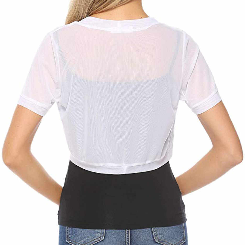 Женское шифоновое болеро с коротким рукавом, с открытой передней частью, кардиган, блузка, топы, сексуальные, пляжные, вечерние, Blusas Femininas z0604