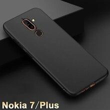 Cas Du Carbone En Silicone Noir Pour Nokia 7 Plus 87x0qpvzgo