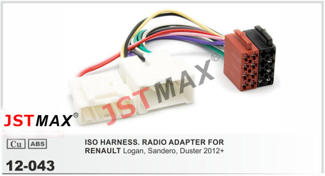 Jstmax Iso Radio Plug For Renault Logan Sandero Duster 2012  Wiring Harness Adapter Connector