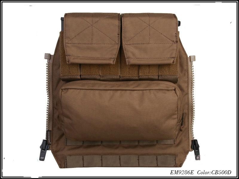 52d4960fc Airsoft Combate Competitivo Back Pack 500D Multicam Molle Militar Bolsa POR  Painel ZIP PARA AVS JPC2.0CPC Coletes À Prova de Caça