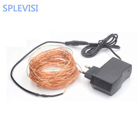 High Quanlity 20M 66ft 200 Leds Copper Wire LED String Light Starry Lights Includes Power Adapter