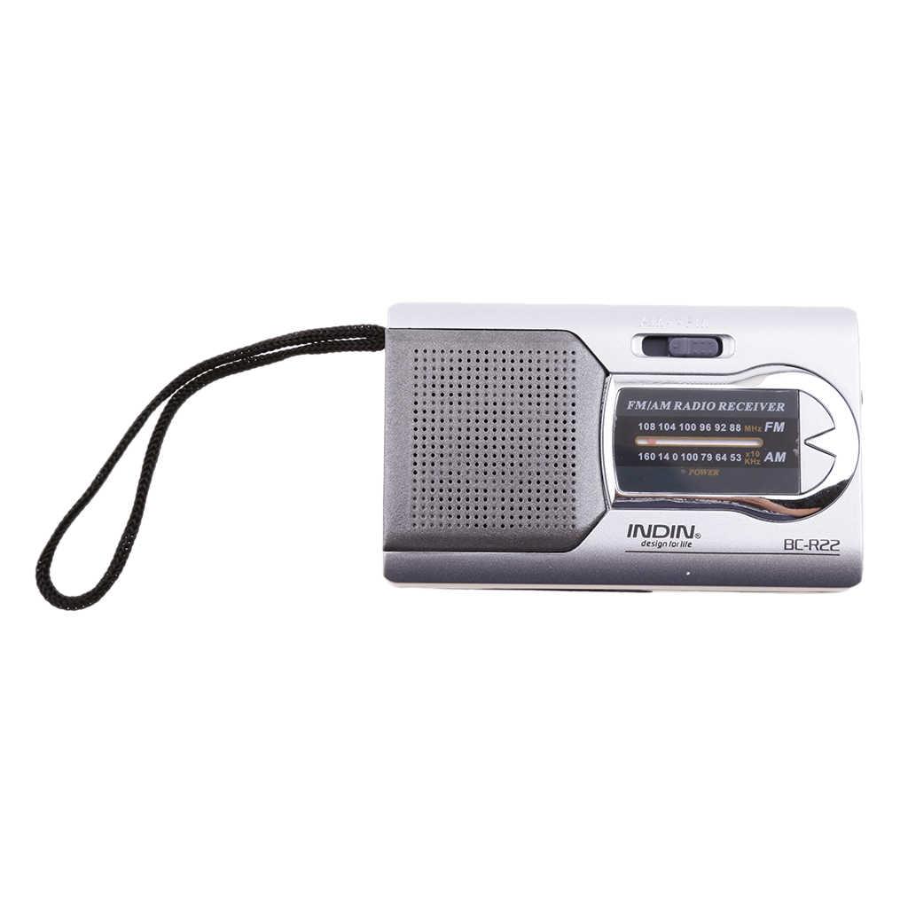 BC-R22 Bỏ Túi Mini Di Động AM/FM Radio Loa Thế Giới Thu Ăng Ten Kính Thiên Văn Mini Di Động AM/FM Radio Loa