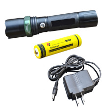 CREE Q5 Zoomable Flashlight Torch Lamp Camping Light with Charger LED Flashlight Outdoor Hunting Spotlight Penlight