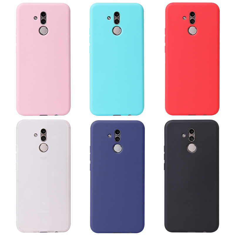 Candy Color Case for Huawei Mate 20 Lite P10 P20 P30 Pro Y9 Y6 2018 Honor 7A 7X 8 8A 9 10 V10 8X Max Soft Case Full Cover Capa