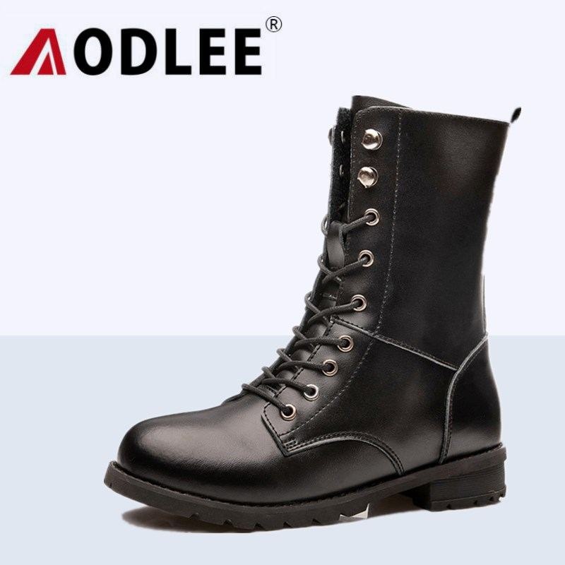 AODLEE Women Ankle Boots Martins British Dr Martins Vintage Genuine Leather Martin Boots Women Motorcycle Boots Botas Mujer 2018 high quality handmade thick heel women shoes genuine leather women boots martins winter vintage ankle boots botas mujer
