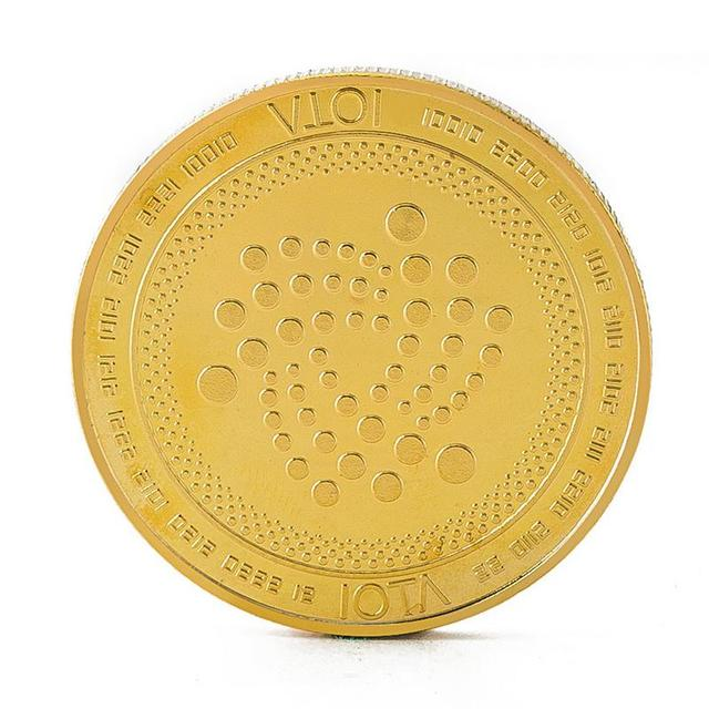 2018 New Arrival IOTA virtual digital currency Bitcoin embossed three-dimensional commemorative coin Dropshipping 5