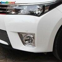 For Toyota Corolla 2013 2014 Chrome ABS Front Fog Lamp light Molding Trim Cover styling chromium mouldings shells
