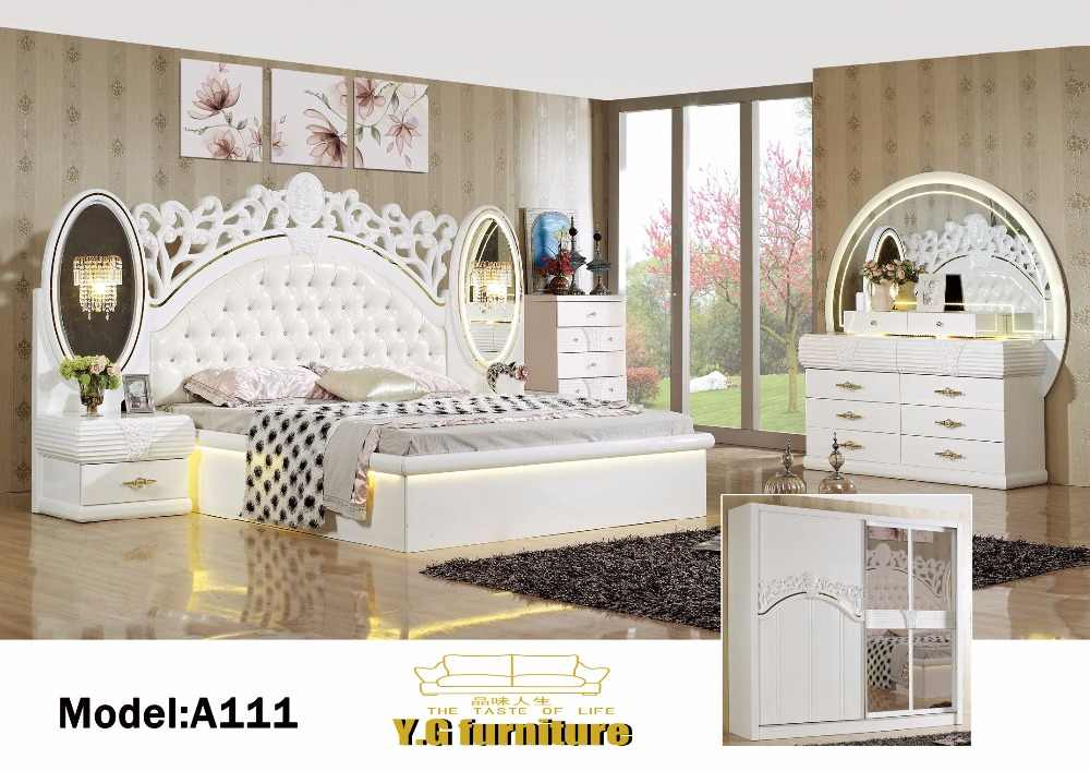 Muebles De Madera Real Baroque Furniture 2018 Free Shipping !! Fashion Modern Bedroom Set Furniture Good Quolity Cheap Price