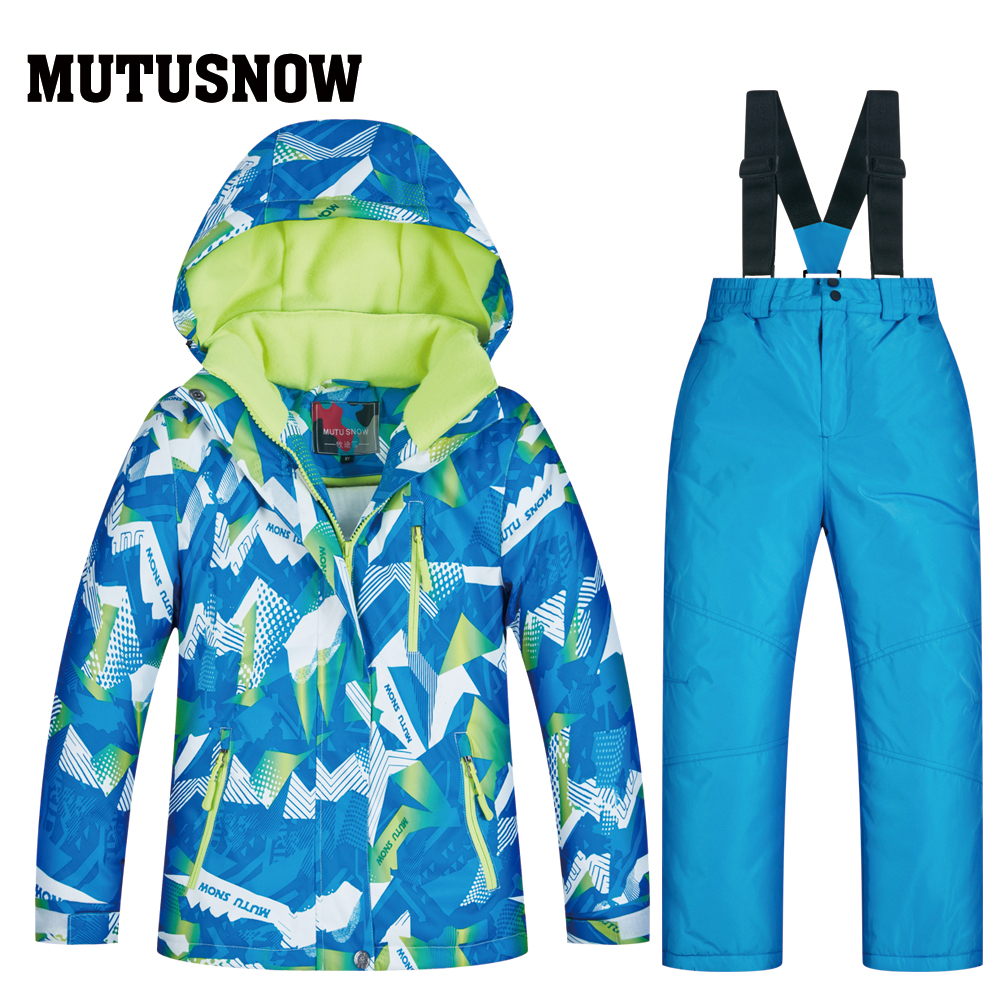 Latest Children's Ski Suit Kids Clothes Winter Windproof Ski Jackets+Pant Kids' Winter Snow Girls Clothes Boys Clothes Outdoor