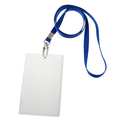 5 Pcs PVC Vertical ID Photo Work Card Holders W 5 Straps