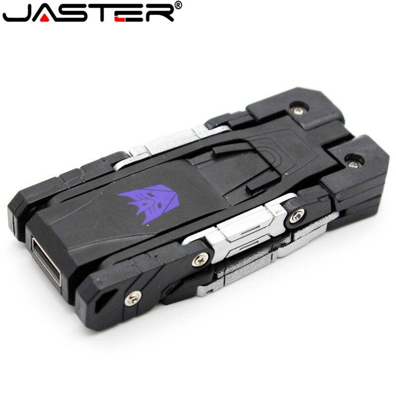 JASTER plastic toy style U disk cartoon character usb flash drive transfomer pendrive 4GB 8GB 16GB 32GB transformation robot