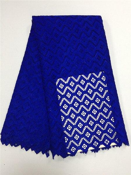 จัดส่งฟรี!รอยัลสีฟ้าที่มีคุณภาพสูงผ้าปักเย็บผ้าแอฟริกันผ้าลูกไม้ฝรั่งเศสสำหรับการแต่งกายไนจีเรีย-ใน ลูกไม้ จาก บ้านและสวน บน   1