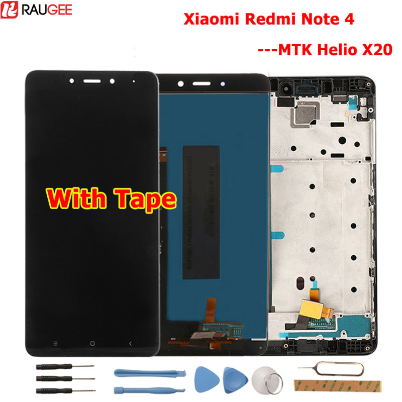 Für <font><b>Xiaomi</b></font> Redmi <font><b>Note</b></font> <font><b>4</b></font> LCD Display + Touch Screen Neue Display Digitizer Glas <font><b>Panel</b></font> Für <font><b>Xiaomi</b></font> Redmi Hinweis <font><b>4</b></font> MTK Helio X20 image