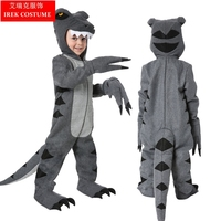 Luxury Halloween Costume Children 's Day Performance Children Prehistoric Animal Flannel Gray Dinosaur Costume Tyrannosaurus HY