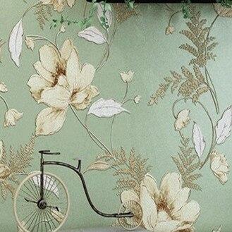 ФОТО American Rural Countryside papel de parede floral  Wallpaper non woven Roll 10m Mural Flower DZK148 mural wallpaper flowers