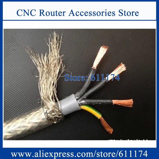 6 meter High quality 2.5^mm2 4 core Shielded Cable for spindle ...